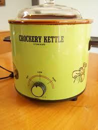 stoneware rice cooker vintage kmart crockery kettle stoneware 3 quart crock pot in