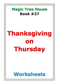 magic tree house thanksgiving on thursday worksheets by d