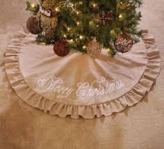 burlap christmas tree skirt merry christmas burlap tree skirt kirklands