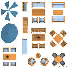 floor plan garden furniture set