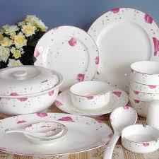 jingdezhen ceramic tableware set 56 skull porcelain korea wedding