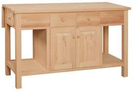 unfinished wood kitchen island