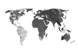 World Map Vector Halftone Textured Map Vector Textures Creative Market