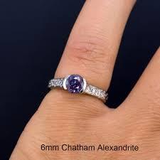 6mm diamond half bezel diamond dust engagement ring