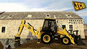 tractopelle jcb 3 cx backhoe loader farming simulator travaux