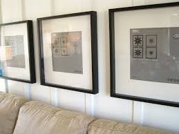 how to hanging pictures without frames on modern living room walls