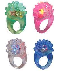 led light up rings amazon com colorful flashing led jelly ring soft bubble ring