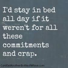 Stay In Bed Meme - i d stay in bed all day if it weren t for all these commitments