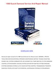 1988 suzuki samurai service and repair manual by johnette pamphile