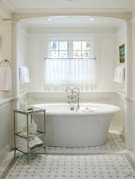 Bathtub Curtains Cafe Curtains Bathroom Traditional With White Bath Tub Curved