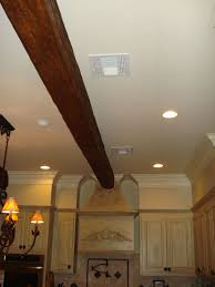 Fake Ceiling Beams by Blending Beams With Crown Molding Faux Wood Workshop