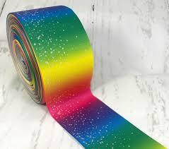 wide ribbon 3 wide ribbon rainbow ribbon ombre ribbon silver laser