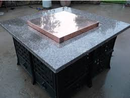 fire table cover rectangle the copper fire pit table cover