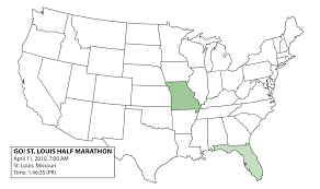 50 States Blank Map by November 2010 Dan U0027s Marathon Page 3