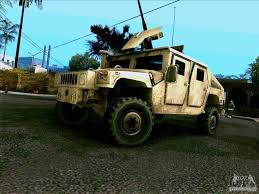 humvee replacement hummer h1 hmmwv with mounted cal 50 for gta san andreas
