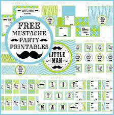ideas of baby boy party supplies mustacheset baby shower diy