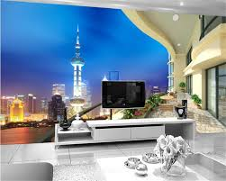 popular city wall murals buy cheap city wall murals lots from beibehang wallpaper night shanghai city stereo tv background wall murals papel de parede wallpaper for walls
