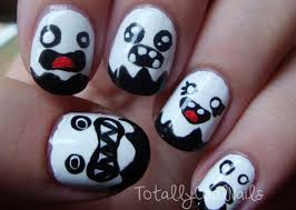 totally cool nails cute ghost nail art ghost nail designs biz style