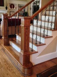 Banister Newel On This Project We Removed The Wood Balusters And Installed Two
