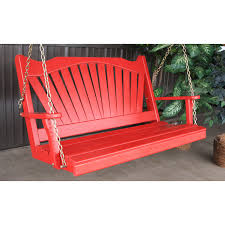 coral coast pleasant bay red curved back porch swing with optional
