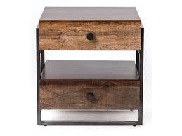 reclaimed wood end table four hands bina milo reclaimed wood end table olinde s furniture