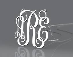 Monogrammed Sterling Silver Necklace 200 Best Monogram Silver Necklace Images On Pinterest Gold