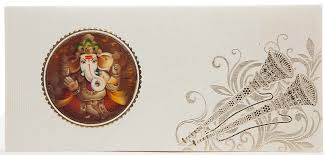 Weeding Card Indian Wedding Card With 3d Ganesha Shehnai U0026 Morpankh Design