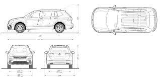 volkswagen drawing volkswagen tiguan allspace 2108 blueprint download free