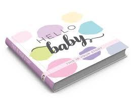 baby keepsake book hello baby keepsake book girl pink lavender yellow sticky
