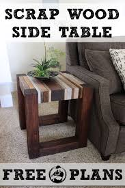 Woodworking Plans Coffee Table Legs by Scrap Wood Side Table Free Diy Tutorial Wood Side Tables