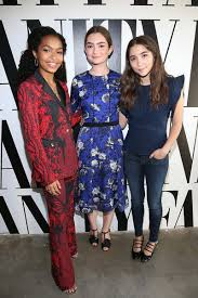 Logan Lerman Vanity Fair Yara Shahidi And Rowan Blanchard Attend The Vanity Fair Social