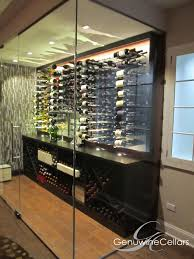 Home Wine Cellar Design Uk by Glass Enclosed Wine Cellars Genuwine Cellars