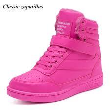 womens boots toe zapatillas winter fur shoes increasing