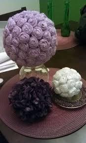 large rose tulle flower hanging ball pomander kissing ball wedding