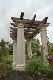 tuscan style pergola swing for mark church in canton ohio