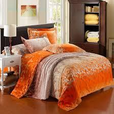 Comforter Orange Orange Bedding Luxury Orange Satin Bedding Sets Home Ideas