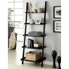 Rattan Bookcase Furniture Black Metal And White Wooden Ladder Shelf For Bookcase