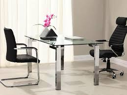 Home Office Glass Desks Modern Glass Desk Office Home Design