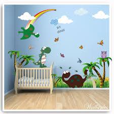 Bedroom Wall Decals Uk Dinosaur Owl Bird Flower Tree Monkey Wall Stickers Bedroom Printed