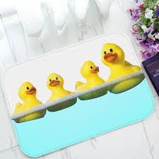 Yellow Duck Bath Rug Rubber Ducky Bathroom Rug