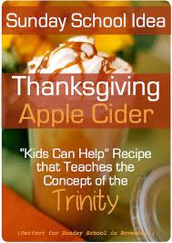 thanksgiving sunday school lesson apple cider