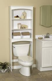 tall white over toilet shelf 3 tiers design decofurnish