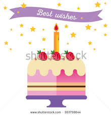 illustration happy birthday painting gifts cake stock vector