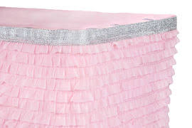 Pink Table Skirt by Ruffled Tiered Table Skirts Cv Linens