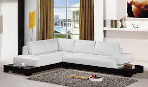 Contemporary White Leather Sectional Sofa by Endearing White Leather Sectional Couch Modern White Leather