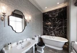 Textured Wallpaper Ceiling by Contemporary Bathroom Wallpaper Bathroom Contemporary With White