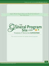 Templates For Funeral Program How To Edit A Funeral Program Template For Word Publisher Apple