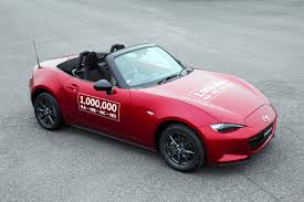 mazda car line the one millionth mazda mx 5 miata rolls off the assembly line