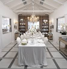 winter white dining room shabby chic style with open shelving