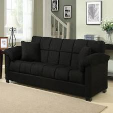 vidaxl convertible sofa bed couch sleeper w ottoman living room
